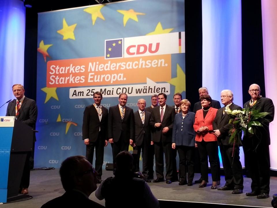 Verabschiedung der Bundes CDU nach einer tollen Rede im Rasta-Dome Vechta!