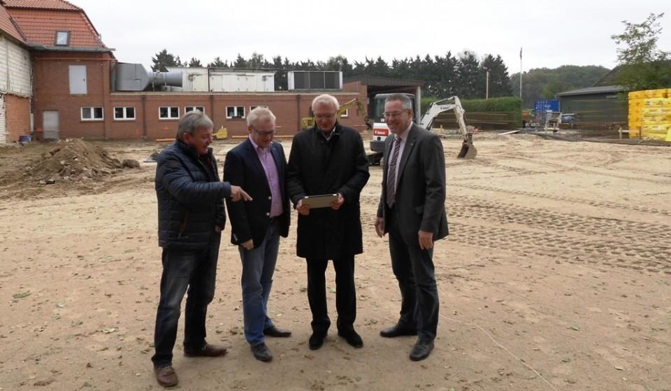 von links nach rechts: Werner Herzog, Jan-Bernd Rolfes, Thomas Hartke, Walter Goda