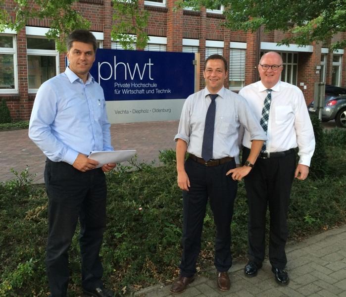 Präsident der phwt Vechta, Prof. Dr. Ludger Bölke, Jörg Hillmer MdL, Dr. Stephan Siemer MdL