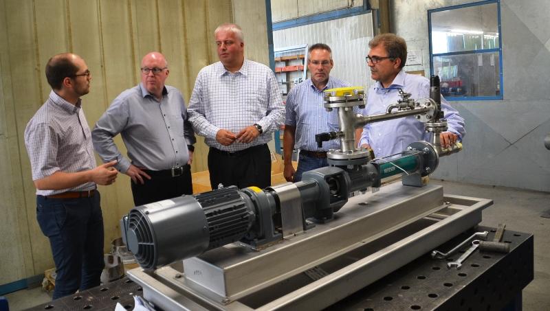Von links nach rechts: Michael Wlking, Dr. Stephan Siemer MdL, Burkhard Balz MdEP, Walter Goda KGF, Heinz Wolking.