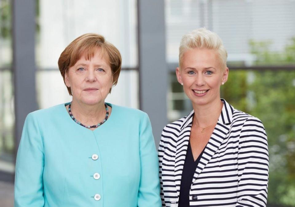 Dr. Angela Merkel und Silvia Breher